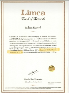 The name of SSM Timarni (MP) has been recorded in the Limca Book of Records