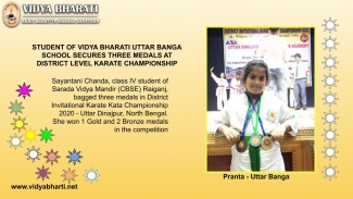 Sayantani Chanda secured three medals in karate championship