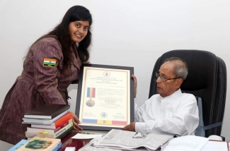 Parvati Jangid awarded with the International Military Medal