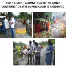 VB Alumni Continues to serve during COVID -19 Pandemic-Uttar Banga