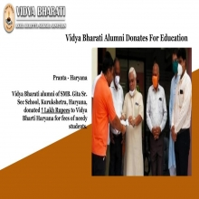 Vidya Bharati Alumni Donates For Education