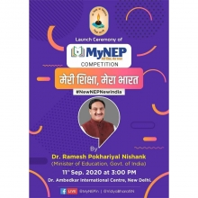 Launch ceremony of #MyNEP Competition on 11th Sep 2020