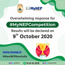 #MyNEP Competition Results will be declared on 9th October 2020.