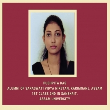 Pushpita Das, Alumni, secured 1st class 2nd in Sanskrit