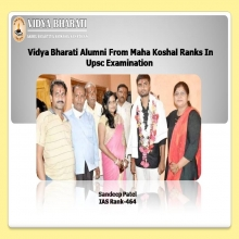Vidya Bharati Alumni From Maha Koshal Ranks In UPSC Examination