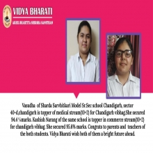 Vidya Bhararti Students Achieved an Excellent Result-2020