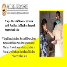 Vidya Bharati Student Secures 10th Position In MP State Merit List