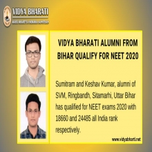 Vidya Bharati congratulates you all for qualifying in NEET